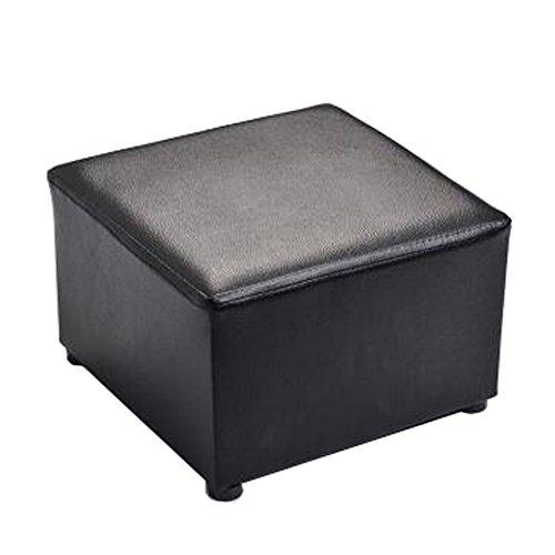 Moderner quadratischer Kunstleder-moderner kleiner Schemel-Tabellen-Schemel Sofa Pier Ottoman Stool, schwarz