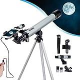 Telescope Astronomique Professionnel Enfant & Adulte Lunette Astronomique avec Portable Trépied...