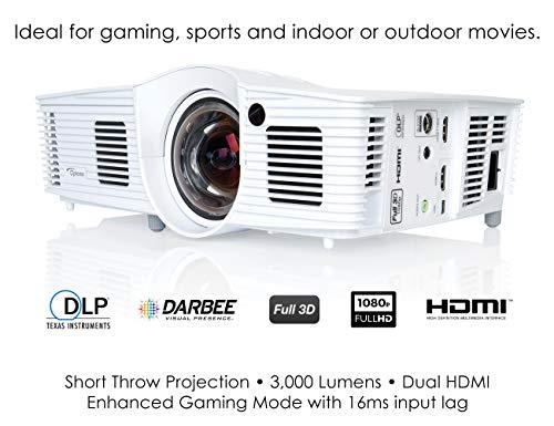 Optoma GT1080Darbee video - Proyector (3000 lúmenes ANSI, DLP, 1080p (1920x1080), 28000:1, 16:9, 1150,6 - 7620 mm (45.3 - 300'))