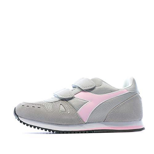 Diadora Simple Run PS, Scarpe da Ginnastica Bambina, Grey Alaska 174383 (33 EU, 75042 - Grey Alaska)
