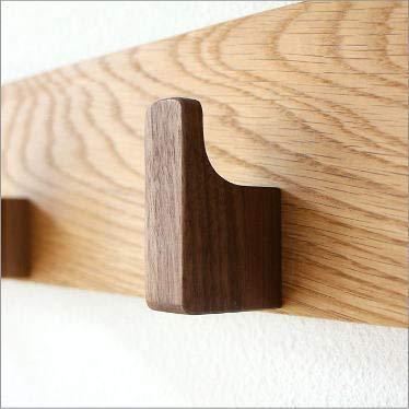 壁掛けフック木製おしゃれコートフックウッドウォールフック[map5885]