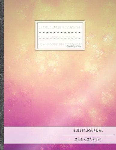 """Bullet Journal • A4-Format, 100+ Seiten, Soft Cover, Register, """"Orange-Violett"""" • Original #GoodMemos Dot Grid Notebook • Perfekt als Tagebuch, Zeichenbuch, Kalligraphie Buch"""