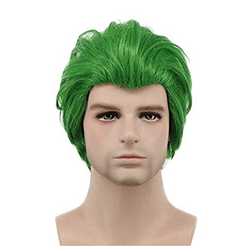 Joker pelcula payaso Batman Joker peluca Cosplay Joaquin Phoenix pelo sinttico verde rizado hombres disfraz de Halloween para mujeres