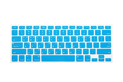EKYJ Einfach zu verwenden Korean Korea Letters Silikon-Tastatur-Abdeckung Aufkleber schützender Film for MacBook Air 13 Pro 13 15 17 mit Retina Tastatur Hautschutz (Color : Sky Blue)