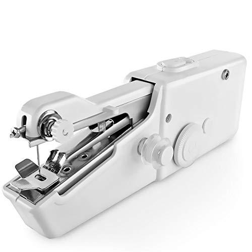 Wealthgirl Handy Stitch, Mini máquina de Coser eléctrica portátil de Mano para Tela, Ropa, Tela para niños, Uso en Viajes domésticos