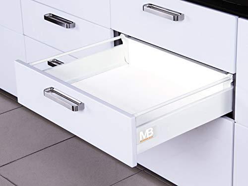 SO-TECH® Schubkastensystem weiß Höhe: 135 mm Tiefe: 500 mm Schublade Schubkasten