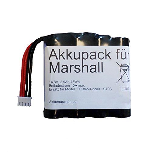 Marshall Kilburn Akkupack 2900 mAh Ersatz f. TF18650-2200-1S4PA