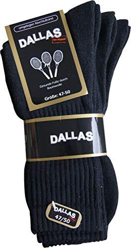 Dallas 3 Paar Herrensocken schwarz (51/54)