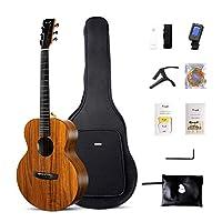 """Enya エンヤ36 """"アコースティックギター旅行ギターEM-X1【ハワイアンコアHPL】【高品質のDaddario弦&ギターバッグ】【無料アクセサリー】"""