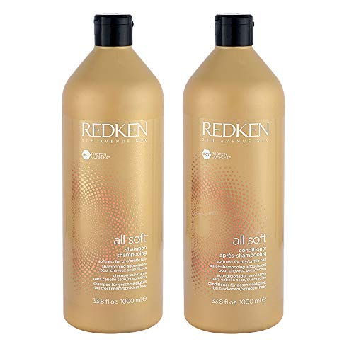 Redken All Soft Shampoo And Conditioner 33.8 Oz 1000 Milliliters