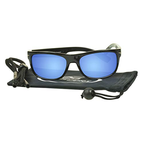 proSPORT Floating Polarized Sunglasses with Retainer for Fishing, Boating. Waterski, Jetski and Water Activities.