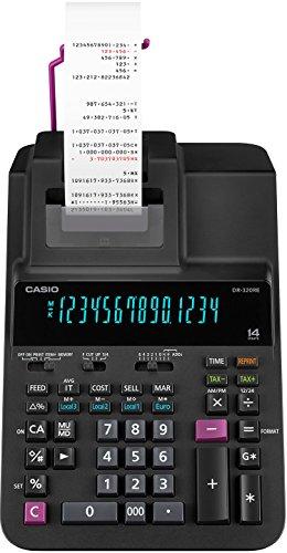 CASIO Druckender Tischrechner DR-320RE, 14-stellig, 2-Farbdruck, Cost/Sell/Margin, Steuerberechnung, Netzbetrieb
