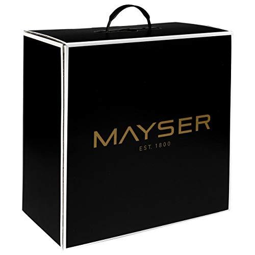 Mayser Hutschachtel Since 1800 Hutkoffer Aufbewahrung für Hüte Damen/Herren - Made in The EU Frühling-Sommer Herbst-Winter - One Size schwarz