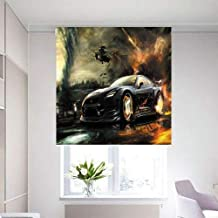3D Roller Curtain With Gta Print 150 * 200 cm, Hks0004, Multi Color, Mixed Material