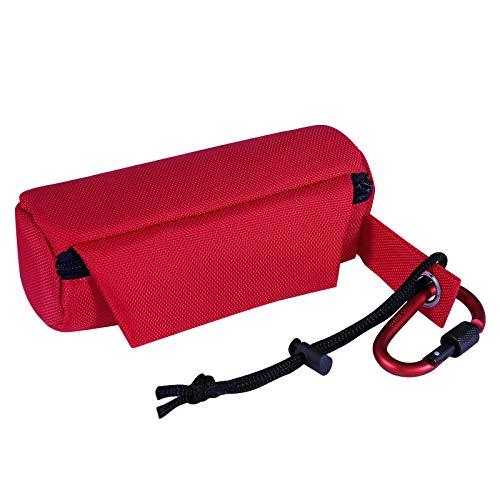 dibea Futterbeutel für Hunde Trainingsdummy Leckerliebeutel Hunde Snacktasche Farbe Rot