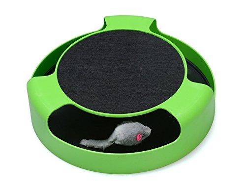 Newin Star Juguetes interactivos para gato ratón, un rascador y una almohadilla para correr, atrapa el ratón, rascador de gatos