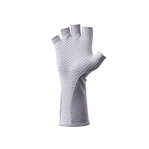 HUK Men's Pursuit Quick-Drying Fingerless Fishing Gloves with UPF 30+ Sun Protection