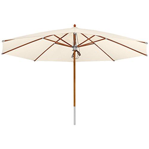 anndora Sonnenschirm Deluxe 3 x 4 m eckig - Natural
