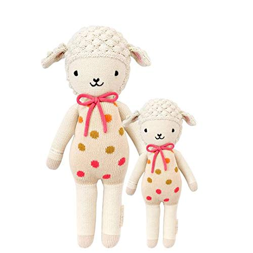 cuddle + kind Lucy The Lamb Little 13' Hand-Knit Doll – 1 Doll = 10 Meals, Fair Trade, Heirloom Quality, Handcrafted in Peru, 100% Cotton Yarn