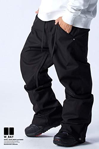 スノーボード ウェア メンズ パンツ 全10カラー 6サイズ(XXS~XL) スノボウェア メンズ レディース 19-20 W_RAY ダブルレイ 下 P01-P10 (P01:ブラック, L)