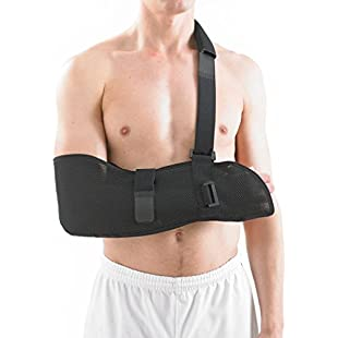 Customer reviews NEO G Airflow Breathable Arm Sling - Medical Grade Quality with waist strap, breathable, lightweight fabric, comfort fit, HELPS support & elevate arm, injury recovery, pre/post surgery-ONE SIZE Unisex