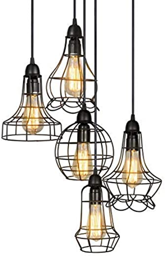 ✅Electro_bp;rustic Barn Metal Chandelier Max 200w with 5 Light Bulbs Included #Lighting & Ceiling Fans