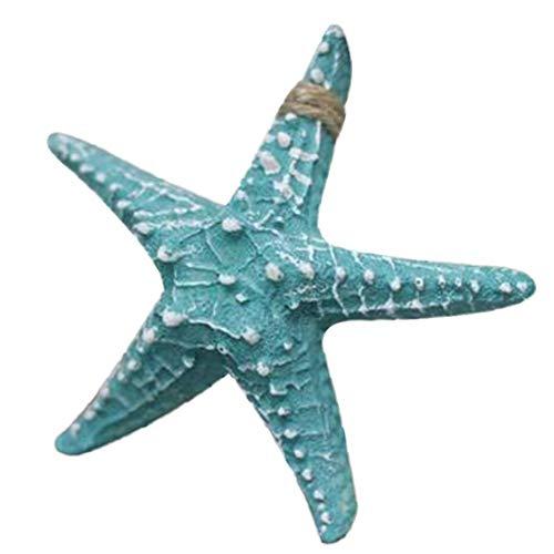 Decoración de estrella de mar de resina de 16,3 cm con temática de mar tropical, decoración de pared, concha de mar, estrella de mar, acuario y pecera, decoración de pared