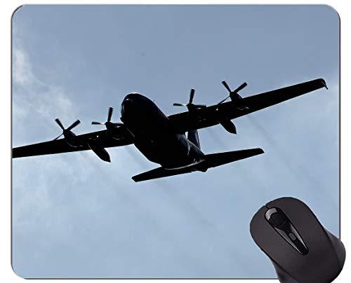 Beste Geschenkideen-Mausunterlage, Transportflugzeugmilitärflugzeugkämpfer rutschfeste Gummibasis Mousepad