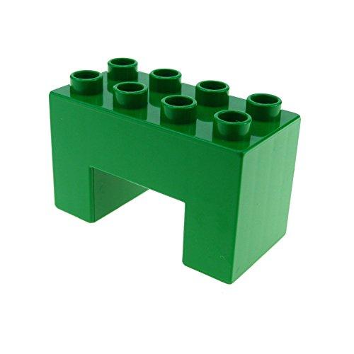 1 x Lego Duplo Brücken Bau Stein grün 2x4x2 mit 2x2 Ausschnitt 8er Noppen Thomas Eisenbahn Baustelle Zoo Farm 6394