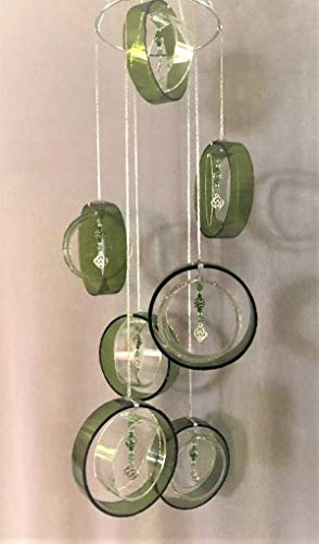 GlassAct of CT Glass Windchimes with CELTIC KNOT