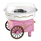 Nostalgia PCM306PK Vintage Hard Free Countertop Cotton Candy Maker, Includes 2 Reusable Cones And...