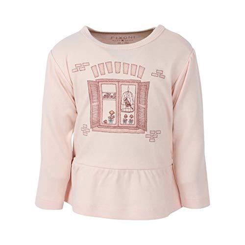 Fixoni T-shirt à manches longues Fenêtre top bébé vêtements bébé, rose