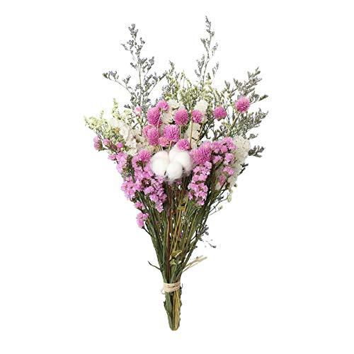 #N/A/a Bella Naturale Secchi Bouquet, Bouquet di Fiori Rosa di Cotone Naturale di Eucalipto Margherita Pianta Gambo Mazzo Arredamento per La Casa, DIYI - Rosa