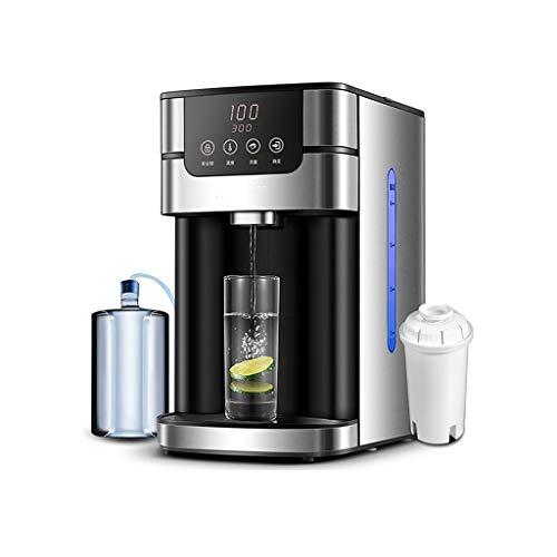 Dispensadores de agua caliente Instantáneo para El Hogar Purificador De Agua del Grifo con Filtro 6 Temperatura del Agua 4 Flujo (Color : Black, Size : 30 * 19 * 33.5cm)