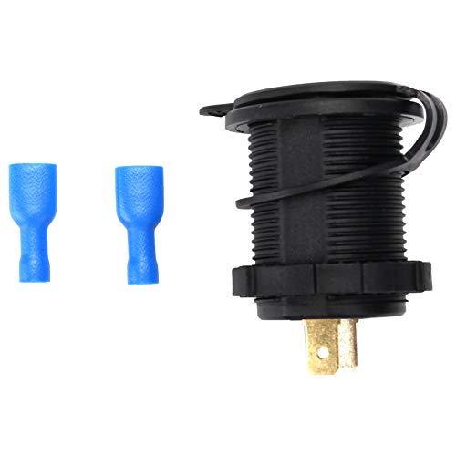 Sunsdew Conector USB para Automovil 12V 5V 4.2A Cargador Doble para Automovil De Adaptador De Cigarrillos a Prueba De Agua con Voltimetro Digital Led para Motocicletas, Caravanas, Camiones