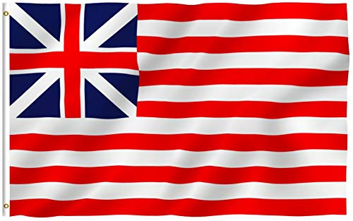 Anley Fly Breeze 3x5 Foot Grand Union Flag - Vivid Color and Fade Proof - Canvas Header and Double Stitched - Continental Colors Flags Polyester with Brass Grommets 3 X 5 Ft