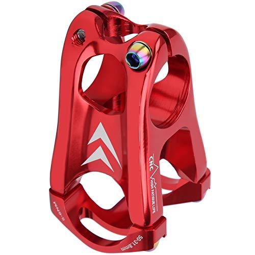 VGEBY Vástago del Manillar de la Bici, Elevador del Manillar del vástago de la Bici de la aleación de Aluminio del Manillar del vástago de la Bici(Red)