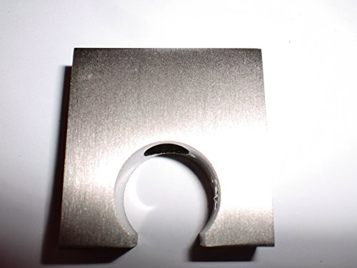 Deckenträger für Gardinenstangen Edelstahl-Optik 16 mm 1 Stück