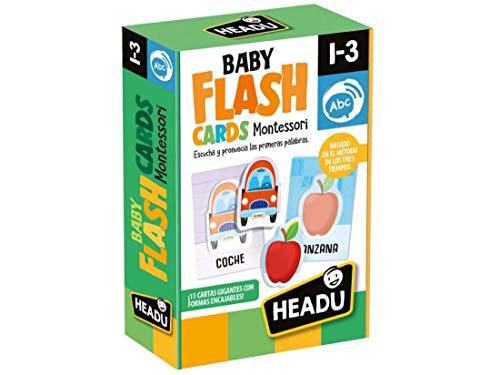 Naipes Heraclio Fournier- Montessori Baby flashcards. Escuchar y pronunciartus primeras Palabras Juego Infantil Educativo, Color Verde, nica (1043736)