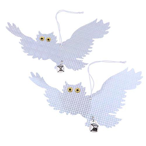 homozy 2pcs Flying Owl Decoy Bird Repellent Garden Protector Bird Scare Tools