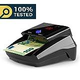Detectalia D7 - Detector de billetes falsos, batería de litio y cable de actualización