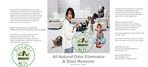 DeOdorAll - Stain & Odor Eliminator / Professional Strength Formula / Permanently Eliminates Odors & Stains from All Surfaces Including...