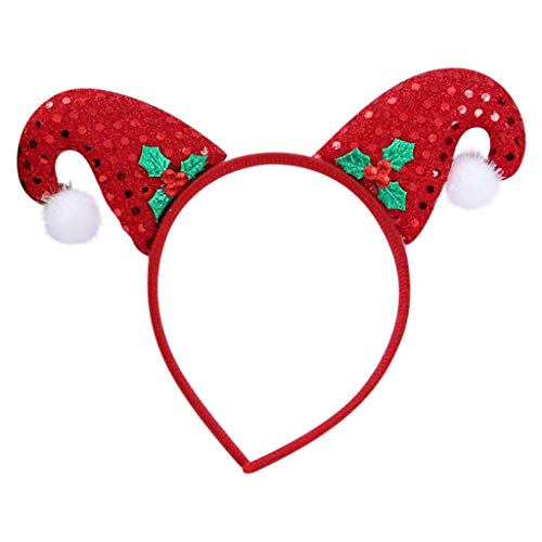 Dasongff Haarband voor Kerstmis, rendier, gewei, eland-oren, haarsieraad, hoofdtooi voor kinderen, volwassenen, party, hert, kostuum, accessoires, decoratie 1 pc C