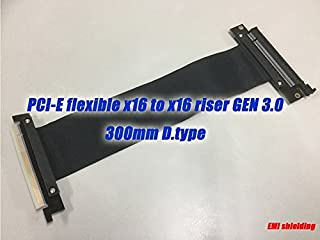 Patent number No:US9,215,834 PCI Express 16x Flexible Cable Card Extension Adapter Riser Card 300mm D.type