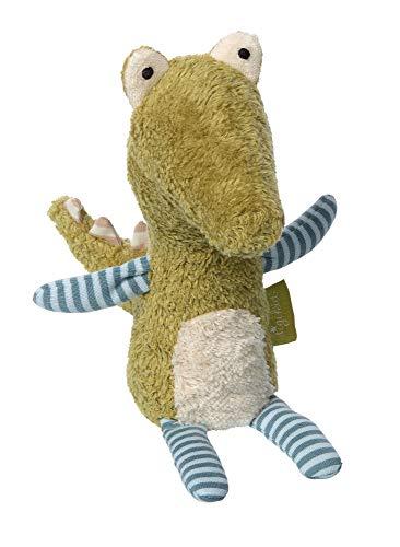 Sigikid Green Knuffel knuffelkrokodil krokodil van katoen gevuld met schapenwol