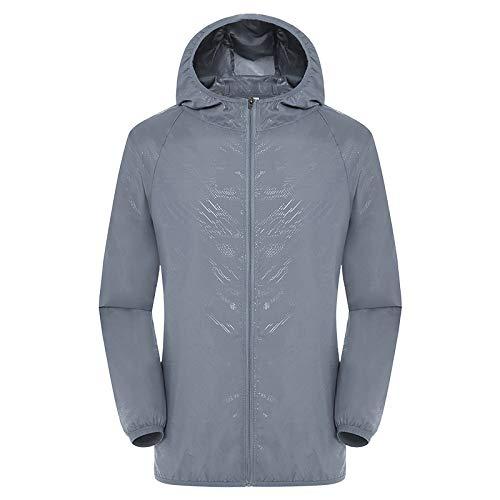 Soulitem Zonwerende jas voor dames en heren, met 2 ventilatoren, waterdichte UV-bescherming, sneldrogende jas
