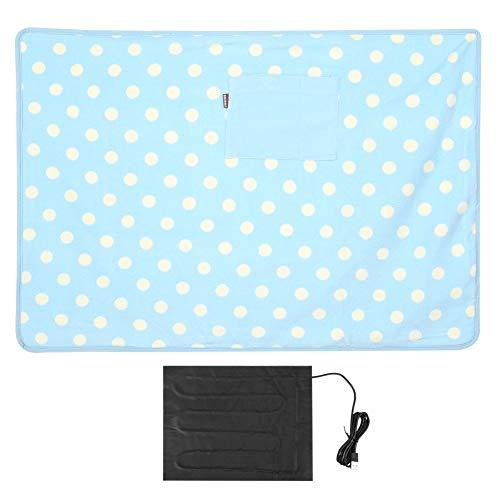 BWLZSP Manta térmica portátil, Multifuncional USB 5v Manta térmica eléctrica cálida Manta portátil para la Rodilla para Uso en el hogar, automóvil y Mascotas(Azul)