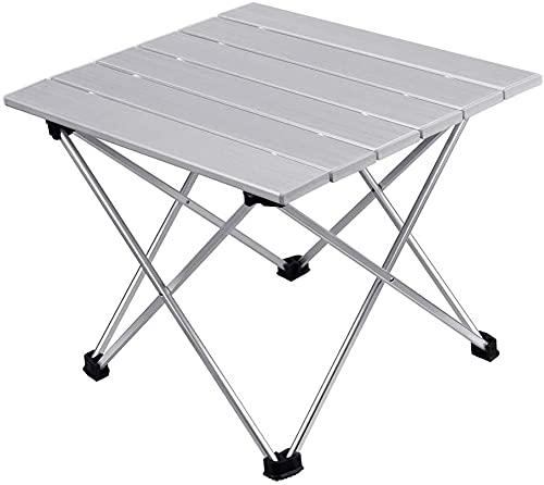 BERTY·PUYI Mesas Laterales De Camping Plegables Portátiles Aleación De Aluminio Senderismo Al...