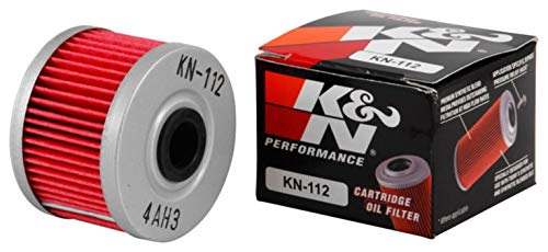 K&N Motorcycle Oil Filter: High Performance, Premium, Designed to be used with Synthetic or Conventional Oils: Fits Select Honda, Kawasaki Motorcycle Models, KN-112