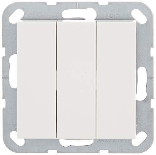Gira 283003 Wippschalter ein/aus 3-fach System 55, reinweiß